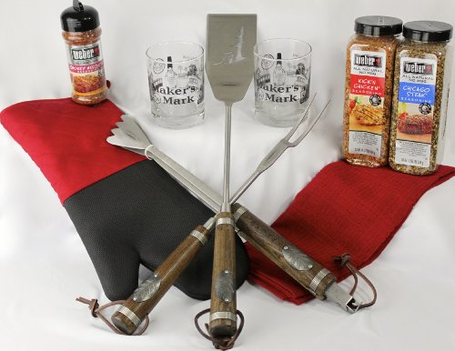 Teton Grill Tools, Weber Spices, Maker's Mark Executive Barbecue Gift Set