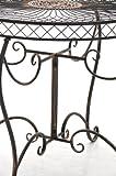 CLP-runder-Eisen-Tisch-SHEELA-in-nostalgischem-Design-Durchmesser--88-cm-Hhe-70-cm-aus-bis-zu-6-Farben-whlen-bronze