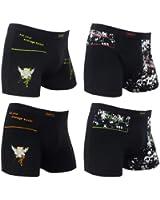 4er Pack Herren Retroshorts Boxershorts Remixx 098 mehrfarbig , Farbe:mehrfarbig;Größe:XL