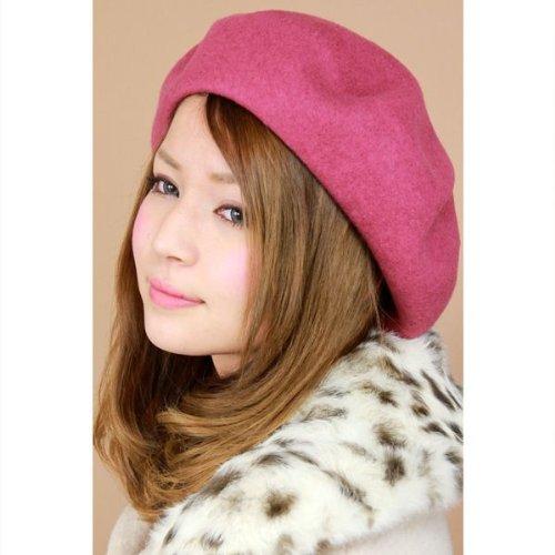 Amazon.co.jp: 帽子/ベレー帽/レディース レディス 国産バスクベレー ピンク: 服&ファッション小物通販