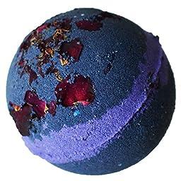 Bombshell Bath Bomb Boudoir Midnight Howl with Rose Petals Cruelty Free, Purple/Blue