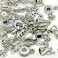 Imagine Perles - Lot de 10 perles-accessoires métal argenté vieilli de 4 à 1