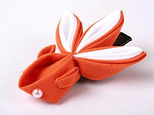 和風 金魚形 ヘアピン 和装 髪飾り#オレンジ