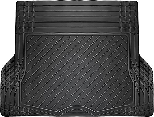 OxGord WeatherShield HD Heavy Duty Rubber Trunk Cargo Liner Floor Mat, Trim-to-Fit for Car, SUV, Van & Trucks (Black) (Ford Focus Floor Mats 2005 compare prices)
