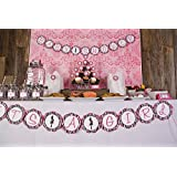"""Mom to Be """"It's a Girl"""" Baby Shower Banner (Hot Pink & Zebra)"""
