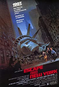 Escape From New York Poster 27x40 Kurt Russell Lee Van Cleef Ernest Borgnine