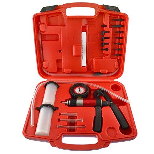 Handheld Vacuum Pump Tester Brake Bleeder Bleeding Fluid Kit 21pc