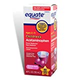 Equate Childrens Acetaminophen 4oz Bubble Gum Flavor Compare to Childrens Tylenol Oral Suspension