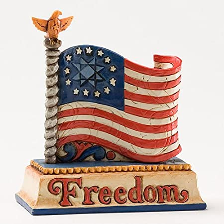American Freedom Flag Figurine