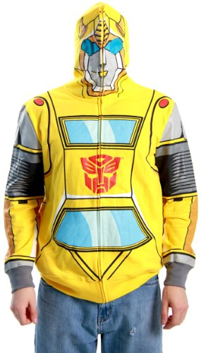 Transformers Autobot Bumblebee Adult Yellow Costume Hoodie Sweatshirt