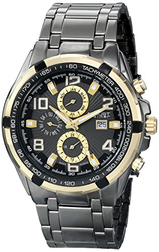 August Steiner Men's Analog Display Swiss Quartz Black Watch