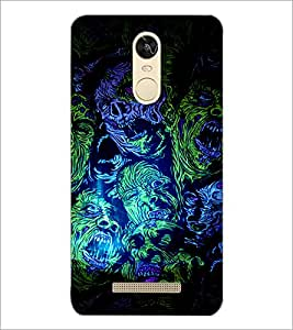PrintDhaba Abstract Design D-3236 Back Case Cover for XIAOMI REDMI NOTE 3 (MEDIATEK) (Multi-Coloured)