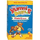 Yummi Bears Vitamin D3 Supplement for Kids, 60 Gummy Bears