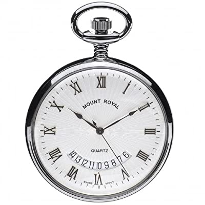 Mount Royal Pocket Watch B30 C Chrome Plated Open Face