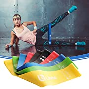50% Off Summer Sale - Limm Exercise Resistance Loop Bands ? Set of 5, 12-inch Workout Bands ? Best for Stretching, Physical Therapy, Home Fitness ? Online Videos, Instructions eBook and Carrying Bag