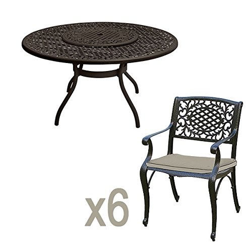 Wondrous Best Deal Rivercast 6 Seater Cast Aluminium Garden Furniture Theyellowbook Wood Chair Design Ideas Theyellowbookinfo