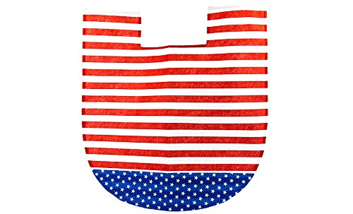 4th of july bathroom decor 4 pcs set patriotic bathroom for Red white and blue bathroom accessories