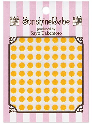 SunshineBabe ネイルシール ドット イエロー 5mm