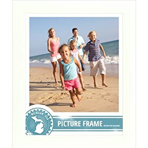 Craig Frames 23247812 12 by 18-Inch Picture Frame, Smooth Finish, 1-Inch Wide, White, Acrylic Facing, Foamcore Backing