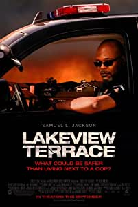 Lakeview terrace movie poster double sided for Movies at the terrace