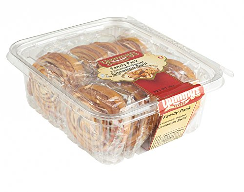 Yummy's Bakery Fresh Baked Grab 'N Go Pastry Snacks - Individually Wrapped Dessert Packs for On the Go Convenience - 16 oz. - (Cinnamon) Bread Basket Cakes
