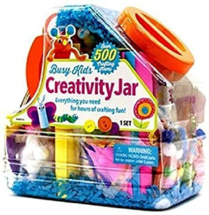 AmazonSmile: Busy Kids Creativity Jar, Over 500 Crafting Items: Toys & Games