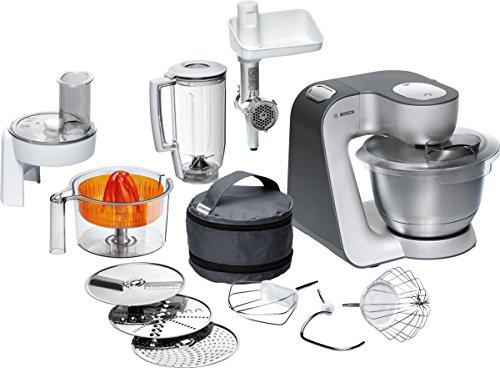 Bosch-MUM56340-Robot-de-cocina-negro-y-plata
