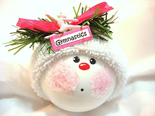 Gymnastics Ornament Personalized Hand Painted and Themed Townsend Custom Gifts - GYMNASTICS Sign and Gymnast