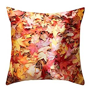 Autumn Throw Pillow Covers : Amazon.com: NikaGrace, Fall Leaves Throw Pillow Cover No Pillow Insert and Made in USA: Home ...