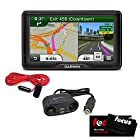 Garmin dezl 560LMT 5-Inch Widescreen Bluetooth Portable Trucking GPS Navigator with Lifetime Map & Traffic Updates with 12-Volt 4-Way Adapter + Max Professional Microfiber Easy Shammy + RoadPro Extension Cord with Cigarette Lighter Plug