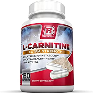 BRI Nutrition L-Carnitine - 180 Count 500mg Capsules