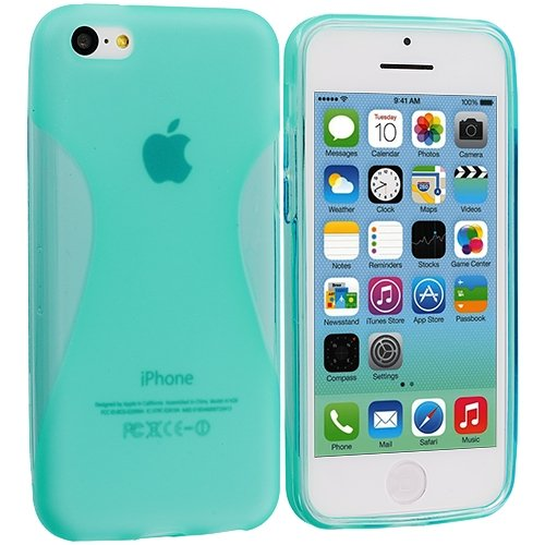 Cell Accessories For Less (Tm) Baby Blue Slim Tpu Rubber Skin Case Cover For Apple Iphone 5C + Bundle (Stylus & Micro Cleaning Cloth) - By Thetargetbuys front-679871