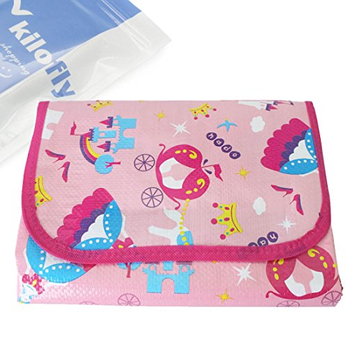 Kf Baby Feeding & Play Mat - Pink Princess (75 X 61 Inch) front-3338