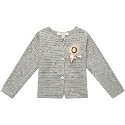 Richie House Girls\'s Cardigan Sweater with Brooch RH1410-6/7-FBA
