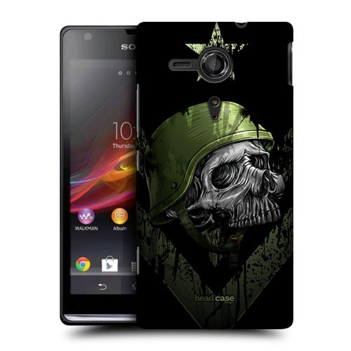 Head Case Designs One Man Army Metal Chevron Protective Snap-On Hard Back Case Cover For Sony Xperia Sp C5303