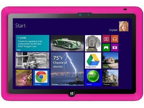 Bobj Silikon-Hulle Boring Duty Tasche fur ASUS VivoTab Smart 10 (ME400C) Tablet - BobjGear Schutzhulle (Himbeere)