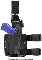 Safariland 6305 ALS Quick Release Thigh Holster w/Hood Guard Sentry, STX Black, 6305-832-131-SH