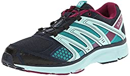Salomon Women\'s X Mission 2 Running Shoe, Deep Blue/Igloo Blue/Mystic Purple, 9 M US