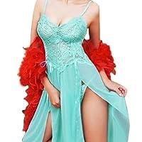 Luckshop 2012 Sexy Women Lingerie Long Lace Gown+G-string Babydoll Underwear Nightwear Chemise