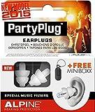 Alpine PartyPlug 2015 - Earplugs to enjoy Music, Concerts or Festivals, Free Miniboxx, White