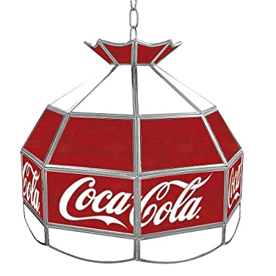 Trademark Global Coca Cola Vintage Stained Tiffany Lamp, 16-Inch