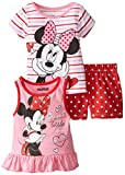 Disney Baby-Girls Infant 3 Piece Minnie Mouse Sweet Little Thing Short Set