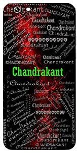 Chandrakant (A Gem Related To Moon, Moon) Name & Sign Printed All over customize & Personalized!! Protective back cover for your Smart Phone : Samsung Galaxy A-3