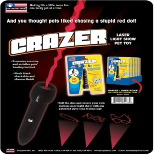 New PetSport USA Crazer Laser Light Show Toy Promotes Exercise and Satisfies Pets' Hunting Instinct