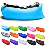 TOLOCO Inflatable Lounger Outdoor Air Sofa Indoor Inflatable Chair with Carry Bag Nylon Fabric
