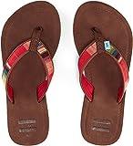 Toms Solana Flip-Flops Brown Multi Textile 10007565 Womens 8