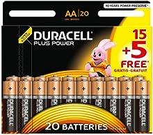 Comprar Duracell Plus Power - Pila alcalina AA (paquete de 15 + 5 unidades)