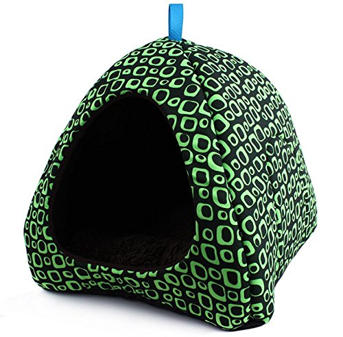 Grid Style Small Dog House Indoor Pet Bed for Small Animals Caves Soft