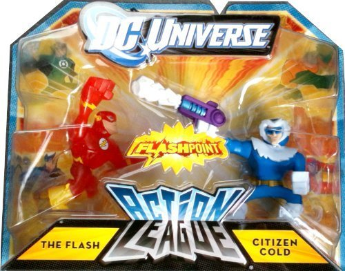 DC Universe Action League FLASHPOINT Mini Figure 2Pack The Flash Citizen Cold