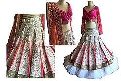 Rozdeal Amazing Pink And White Heavy Design Lehenga Choli